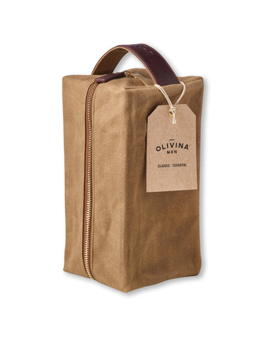 Waxed Canvas Tavel Bag by Olivina - All Men's Style And Wellness