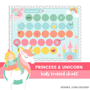 Princess and Unicorn Chart