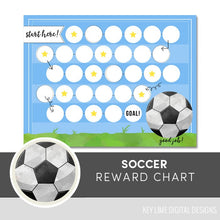 Load image into Gallery viewer, Soccer Reward Chart