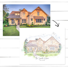 Load image into Gallery viewer, Custom Home Sketch