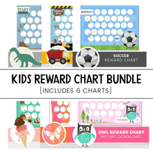 Load image into Gallery viewer, Kids Reward Chart Bundle