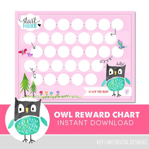 Owl Reward Chart