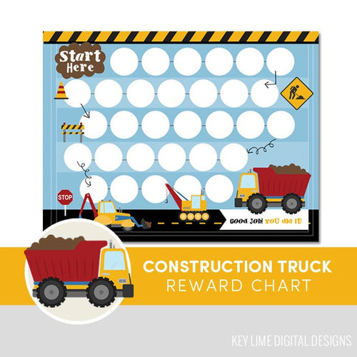 Construction Truck Reward Chart