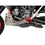 Skid Plate with Exhaust Pipe Guard and Plastic Bottom RR200