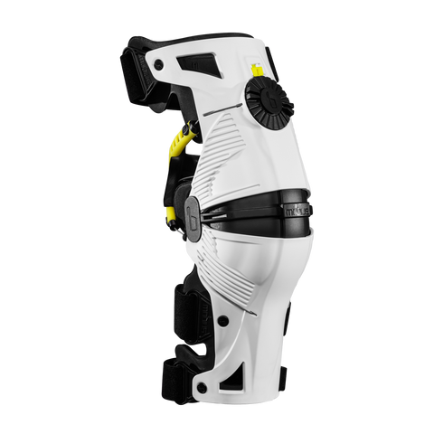 Mobius X8 Knee Braces (pair) White-Acid Yellow