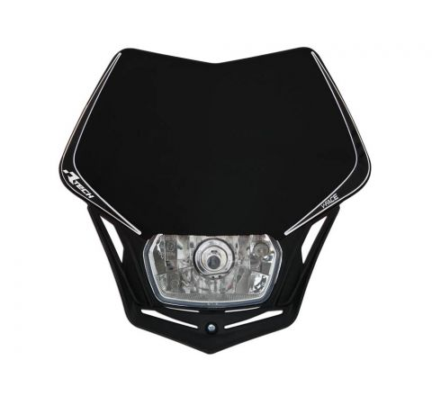 R-Tech V-Face Universal Headlight Black
