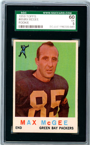 1959 Topps SGC GRADED 60 - Max McGee - Rookie - SOLD!