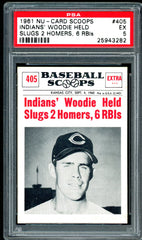 1961 (405) Nu-Cards Baseball Scoops PSA GRADED 5