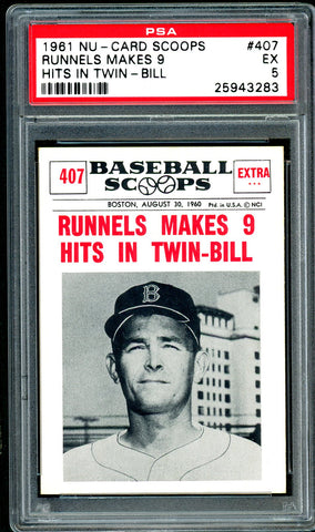 1961 (407) Nu-Cards Baseball Scoops PSA GRADED 5 - SOLD!