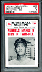 1961 (407) Nu-Cards Baseball Scoops PSA GRADED 5