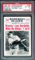 1961 (408) Nu-Cards Baseball Scoops PSA GRADED 6