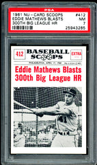 1961 (412) Nu-Cards Baseball Scoops PSA GRADED 7 SOLD!