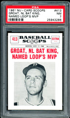 1961 (413) Nu-Cards Baseball Scoops PSA GRADED 7