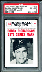 1961 (415) Nu-Cards Baseball Scoops PSA GRADED 6