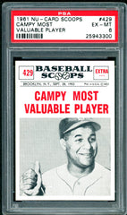 1961 (429) Nu-Cards Baseball Scoops PSA GRADED 6