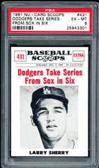 1961 (434) Nu-Cards Baseball Scoops PSA GRADED 6