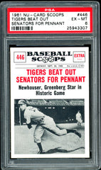 1961 (446) Nu-Cards Baseball Scoops PSA GRADED 6 SOLD!
