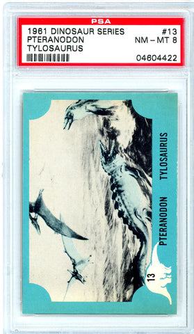 1961 Nu-Cards Dinosaur Series #13 PSA GRADED 8 - SOLD!