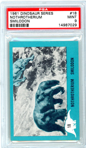 1961 Nu-Cards Dinosaur Series #18 PSA GRADED 9 HIGHEST GRADED