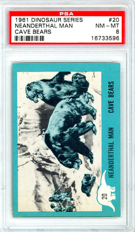 1961 Nu-Cards Dinosaur Series #20 PSA GRADED 8 - SOLD!