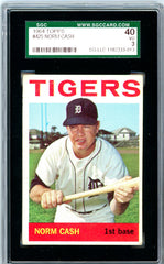 1964 Topps SGC GRADED 40 - Norm Cash