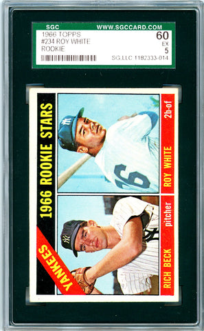 1966 Topps SGC GRADED 60 - Roy White - Rookie