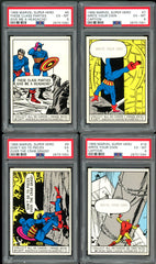 1966 Marvel Super Heroes COMPLETE SET (66) -includes 38 PSA cards- average 6.08