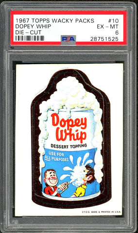 1967 Topps Wacky Packs Die-Cut #10 PSA GRADED 6