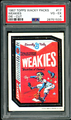 1967 Topps Wacky Packs Die-Cut #17 PSA GRADED 4