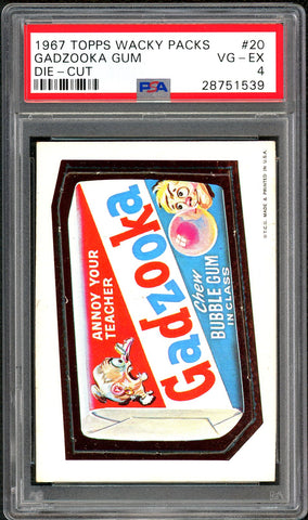 1967 Topps Wacky Packs Die-Cut #20 PSA GRADED 4