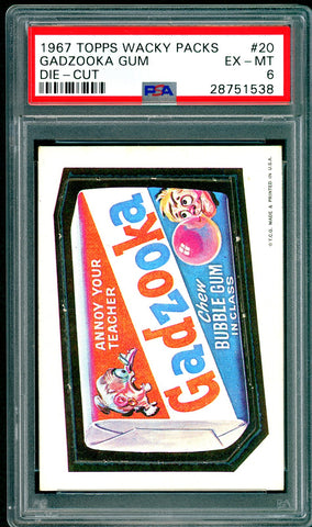 1967 Topps Wacky Packs Die-Cut #20 PSA GRADED 6