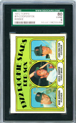 1972 Topps SGC GRADED 80  Cooper/Fisk - Rookie