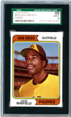1974 Topps SGC GRADED 88 - Dave Winfield - Rookie