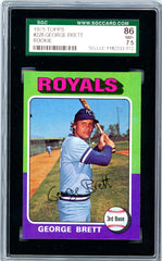 1975 Topps SGC GRADED 86 - George Brett - Rookie