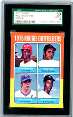 1975 Topps SGC GRADED 50 - Fred Lynn - Rookie