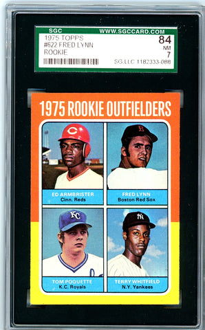 1975 Topps SGC GRADED 84 - Fred Lynn - Rookie