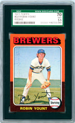 1975 Topps SGC GRADED 70 - Robin Yount - Rookie