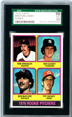 1976 Topps SGC GRADED 70 - Ron Guidry - Rookie