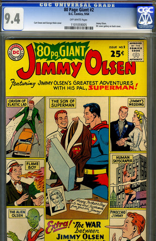 Eighty Page Giant #02   CGC graded 9.4 - Jimmy Olsen - SOLD!