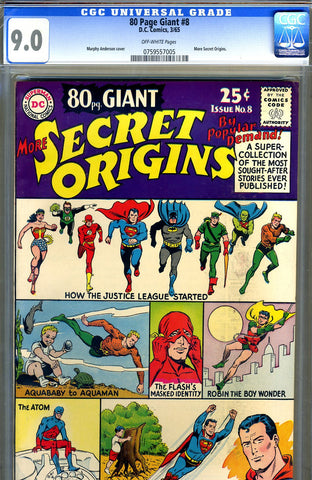 Eighty Page Giant #08   CGC graded 9.0 - More Secret Origins - SOLD