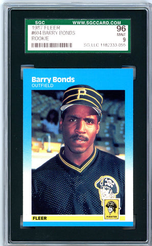 1987 Fleer SGC GRADED 96 - Barry Bonds SOLD!