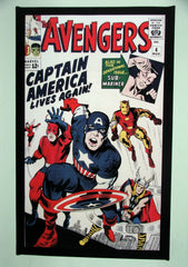 CLASSIC COVER ON CANVAS - Avengers #4 - SOLD!  (back in stock)
