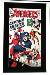 CLASSIC COVER ON CANVAS - Avengers #4 - ROLLED CANVAS ONLY