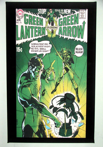 CLASSIC COVER ON CANVAS - Green Lantern #76 - Neal Adams begins