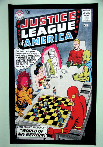 CLASSIC COVER ON CANVAS - Justice League of America #1  SOLD! (back in stock)