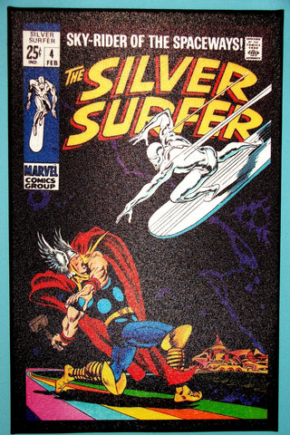 CANVAS - SEMI-GLOSS FINISH Silver Surfer #4