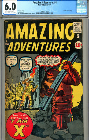 Amazing Adventures v1961 #04   CGC graded 6.0 - SOLD!