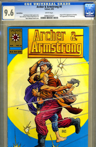 Archer & Armstrong #0  CGC graded 9.6 - Gold Edition - low print run