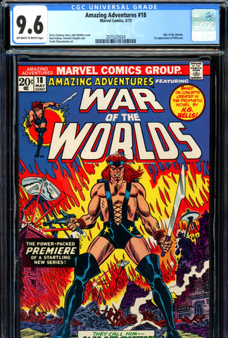 Amazing Adventures #18 CGC graded 9.6 first Killraven