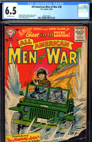 All-American Men of War #38 CGC graded 6.5 first S.A. issue